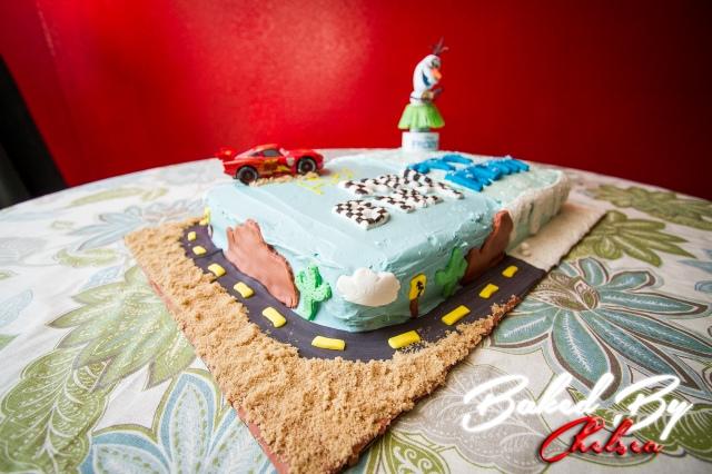 carsfrozen cake